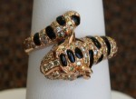 18K Rose Gold Leopard Ring